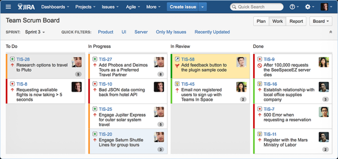 Jira Atlassian for Agile Tools screenshots
